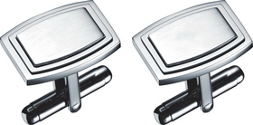 Visol Capri Stainless Steel Engravable Cufflinks, Price/Pair