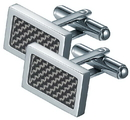 Visol Michal Carbon Fiber Stainless Steel Cufflinks