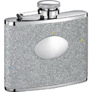 Visol Star Silver Glitter Stainless Steel 4oz Hip Flask