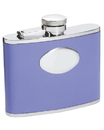 Visol Blossom Lavender Leather Stainless Steel 4oz Hip Flask