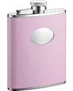Visol Daydream Pink Leather Stainless Steel 6oz Hip Flask