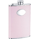 Visol Daydream Pink Leather Hip Flask - 8 oz