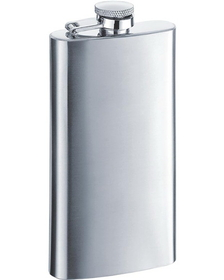 Visol Trim Satin Finish Stainless Steel 5oz Hip Flask