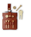Visol GB  6oz Flask with Brown Leather Wrap and Golf Tools