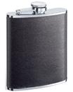 Visol Zano Black Leather Hip Flask - 6 oz