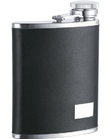 Visol Zen Black Synthetic Leather 7oz Flask