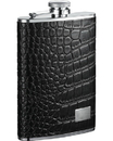 Visol Gator Leather Hip Flask - 8 oz
