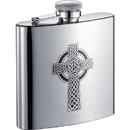 Visol Celtic Cross 6oz Stainless Steel Hip Flask