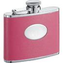 Visol Britney Hot Pink Leather Hip Flask - 4 oz