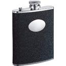 Visol Stardust Black Glitter Hip Flask - 6 oz