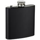 Visol Raven Black Stainless Steel Hip Flask - 6 oz