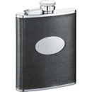 Visol Lance Black Leather Stainless Steel 6oz Hip Flask