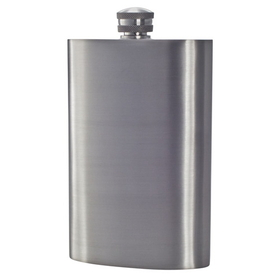 "Visol ""Gleam"" Satin Finish Genuine Pewter 8oz Hip Flask"