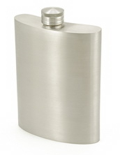 Visol Gleam Pewter Hip Flask - 6 oz