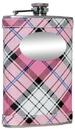 Visol Valor Pink Plaid Stainless Steel Hip Flask - 8oz