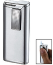 Visol Condor Satin Chrome Wind-Resistant Torch Flame Lighter
