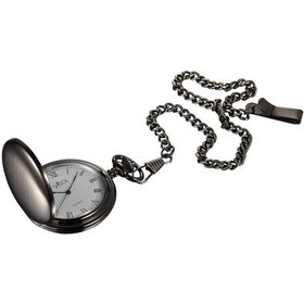 Visol Scipio Brushed Gun Metal Japanese Quartz Pocket Watch