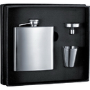 Visol 6 oz Stainless Steel Flask Gift Set With Two Shot Cups & Funnel