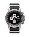 Vestal PLCL03 Plexi Leather Watch - Silver/Brown/Italian Leather