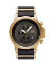 Vestal PLE040 Plexi Leather Watch - Gold/Black