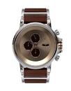 Vestal PLWCM001 Plexi Wood Watch - Silver/Rosewood/Grey Minimalist