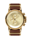 Vestal PLWCM002 Plexi Wood Watch - Gold/Rosewood
