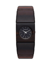 Vestal RWS3W01 Rosewood Slim Watch - Burnt Ebony/Black (Real Wood)