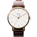 Vestal SPH3L03 The Sophisticate Watch - Brown/Gold/White/Italian Leather/Swiss Jewel Movement