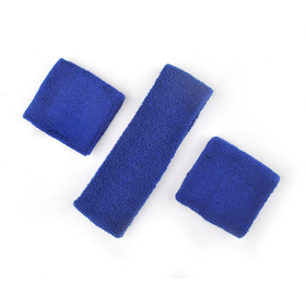 GOGO Thick Solid Color Sweatband Set (1 Headband + 2 Wristbands), Price for ONE DOZEN