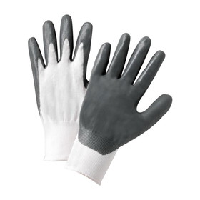 West Chester Flat Nitrile Palm Coated Nylon Gloves, Price/DZ