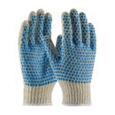 West Chester Blue PVC Block String Knit Gloves