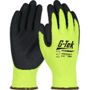 West Chester Hi Vis Lime Latex Palm Coated Knit Glove