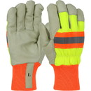 West Chester HVY1555 120g Positherm Lined, High Visibility Fabric, Grain Pigskin, Knit Wrist Cuff