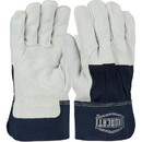 West Chester Premium Heavy Split Cowhide Palm 3/4 Leather Back Gloves