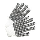 West Chester Black PVC Honeycomb Grip String Knit Gloves