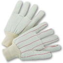 West Chester Cotton Corded Double Palm White Knit Wrist