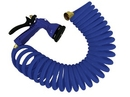 Blue Coiled Hose w/Nozzle - 15'