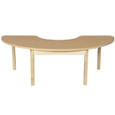 Wood Designs HPL2264HCRCHPL20 Half Circle High Pressure Laminate Table with Hardwood Legs- 20