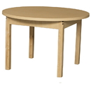 Wood Designs HPL36RNDHPL14 Round High Pressure Laminate Table with Hardwood Legs- 14