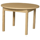 Wood Designs HPL36RNDHPL16 Round High Pressure Laminate Table with Hardwood Legs- 16