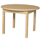 Wood Designs HPL36RNDHPL24 Round High Pressure Laminate Table with Hardwood Legs- 24