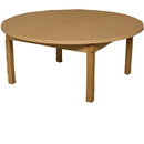 Wood Designs HPL48RNDHPL14 Round High Pressure Laminate Table with Hardwood Legs- 14