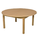 Wood Designs HPL48RNDHPL24 Round High Pressure Laminate Table with Hardwood Legs- 24