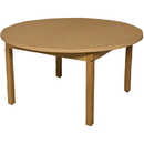 Wood Designs HPL48RNDHPL26 Round High Pressure Laminate Table with Hardwood Legs- 26