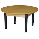 Wood Designs HPL48RNDHPLA1217 Round High Pressure Laminate Table with Adjustable Legs 12