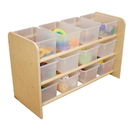 Wood Designs WD13801 See-All Storage with (12) Translucent Trays , 21.00