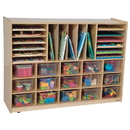 Wood Designs WD14001 Multi-Storage with (15) Translucent Trays , 38.00
