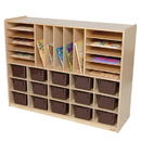 Natural Environments WD14002 Multi-Storage with (15) Brown Trays , 38.00