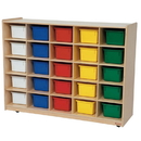 Wood Designs WD16003 25 Tray Storage with Assorted Trays , 38.00