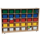 Wood Designs WD16033 30 Tray Storage with Assorted Trays , 38.00